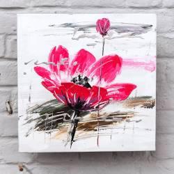 Coeur de fleur rose