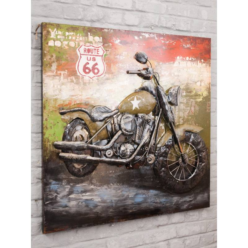 plaque m tal moto harley davison. Black Bedroom Furniture Sets. Home Design Ideas