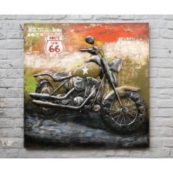 Plaque Métal Moto Harley