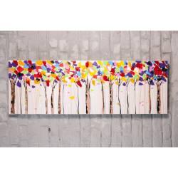 Forêt d'arbres colorés