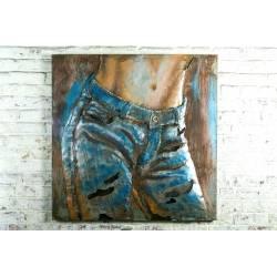 Plaque Métal Jeans