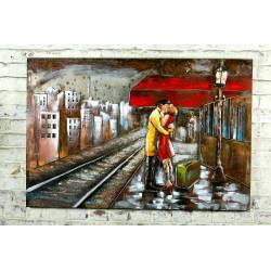 Couple sur le quai de gare