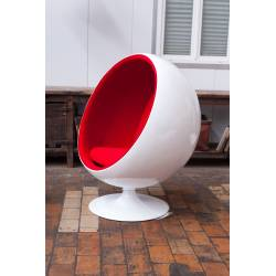 Fauteuil Rond Rouge