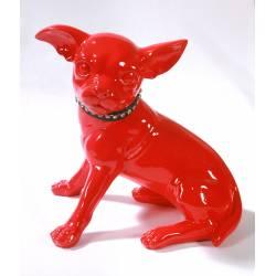 Statuette chiwawa rouge