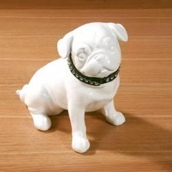 Statuette Bouledogue Blanc