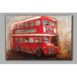 Plaque Métal Bus Anglais