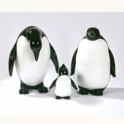 Statue Famille Pingouins